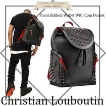 Christian Louboutin Calfskin Studded Bag in Bag 2WAY Plain Backpacks