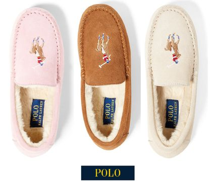 Big Pony embroidery suede moccasin