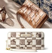Michael Kors Bi-color Leather Python Long Wallets