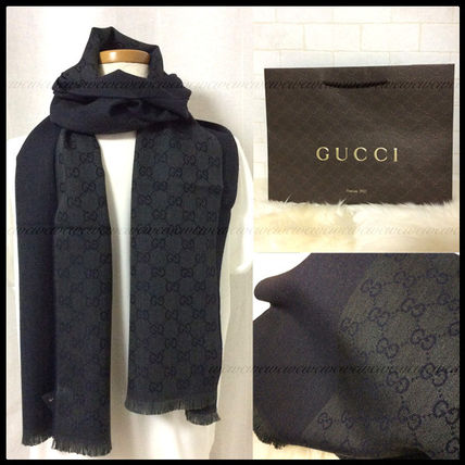 GG scarf scarf Charcoal gray