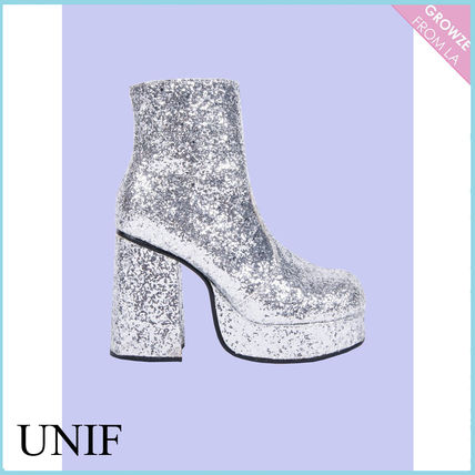 UNIF Clothing Platform Plain Party Style High Heel Boots