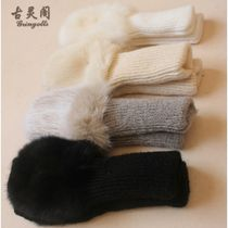 Casual Style Blended Fabrics Plain Gloves Gloves