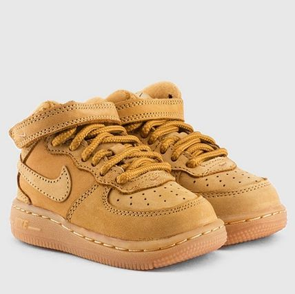 Kids size Nike Air Force 1 Mid Flax Toddler