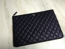 CHANEL Unisex Leather Clutches