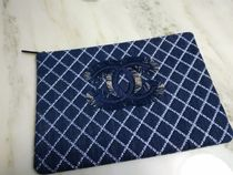 CHANEL Unisex Denim Clutches