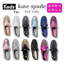 kate spade new york Round Toe Collaboration Leather Low-Top Sneakers