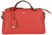 FENDI BY THE WAY Bauletto Regular Boston Bag / Fiamma Red