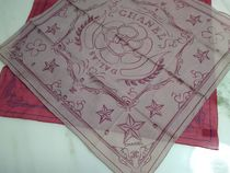CHANEL Star Unisex Cotton Party Style Lightweight Scarves & Shawls
