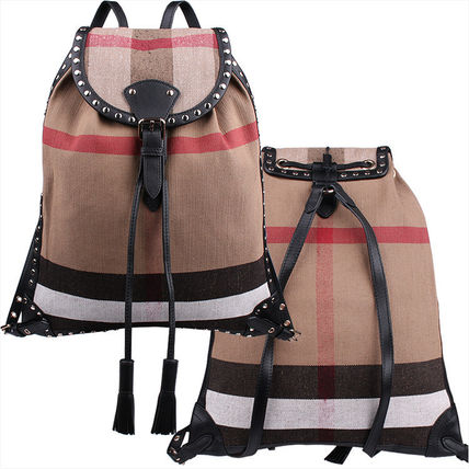 Other Check Patterns Cambus Studded Backpacks