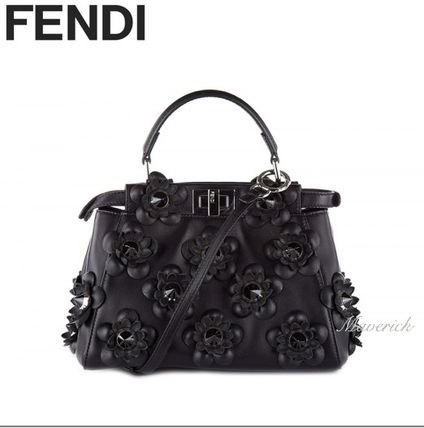 Mini Handbag / Black Flowers