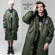 BOY LONDON Street Style Plain Long MA-1 Bomber Jackets