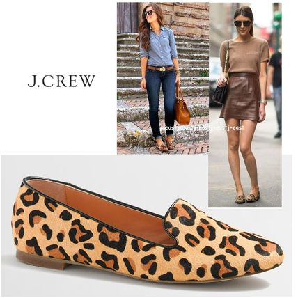 506f93bf8f9 J Crew Factory 2016-17AW Leopard Patterns Moccasin Round Toe Flats by j-east  - BUYMA