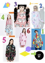 LAZY OAF Tropical Patterns Street Style Long Sleeves Long Party Style