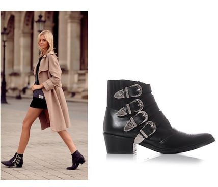 TOGA buckle leather ankle boots popular