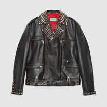 GUCCI Short Other Animal Patterns Leather Biker Jackets