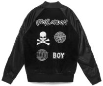 BOY LONDON Short Faux Fur Studded Varsity Jackets