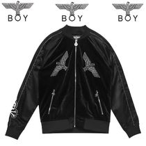 BOY LONDON Faux Fur Studded Medium Varsity Jackets