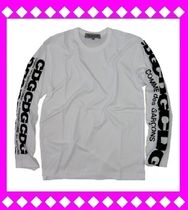 COMME des GARCONS Crew Neck Unisex Long Sleeves Cotton Logos on the Sleeves