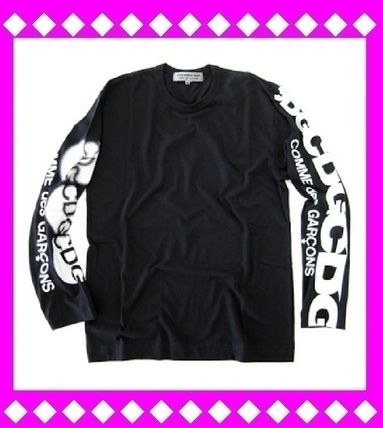 COMME des GARCONS Long Sleeve Unisex Long Sleeves Cotton Logos on the Sleeves