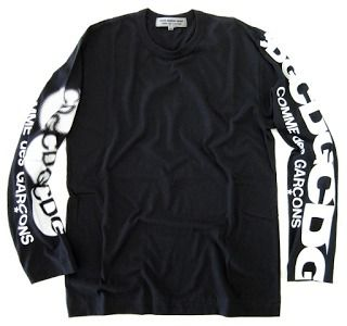 COMME des GARCONS Long Sleeve Unisex Long Sleeves Cotton Logos on the Sleeves 2