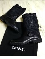 CHANEL Leather Engineer Boots