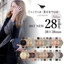 Olivia Burton Leather Quartz Watches Elegant Style Analog Watches