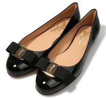 Salvatore Ferragamo Plain Leather Flats