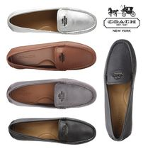 Coach Moccasin Plain Leather Slip-On Shoes