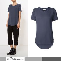 3.1 Phillip Lim Short Silk Short Sleeves Cropped