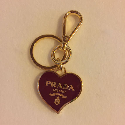 Heart shaped key ring Rosso