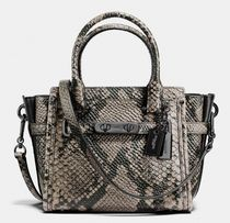 Coach SWAGGER 2WAY Leather Python Elegant Style Handbags