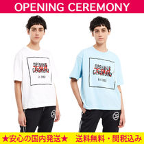 OPENING CEREMONY Crew Neck Short Casual Style Cotton Short Sleeves Cropped