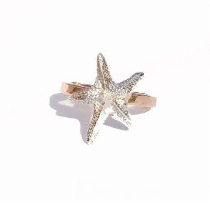 Casual Style Handmade 14K Gold Rings