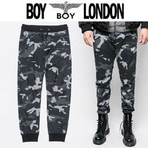 BOY LONDON Printed Pants Camouflage Street Style Other Animal Patterns