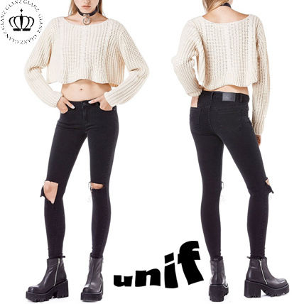 UNIF Clothing Casual Style Denim Plain Long Skinny Jeans