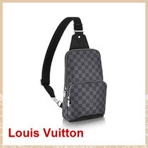 Louis Vuitton DAMIER GRAPHITE Monogram Unisex Canvas Street Style 2WAY