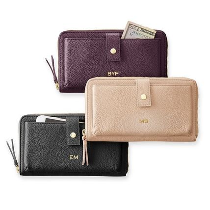 marc AND graham Long Wallets Unisex Plain Leather Long Wallets 2
