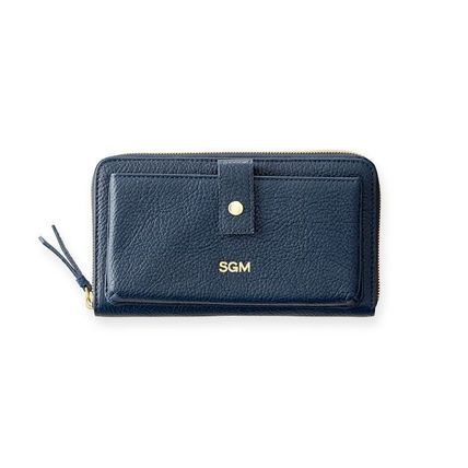 marc AND graham Long Wallets Unisex Plain Leather Long Wallets 3