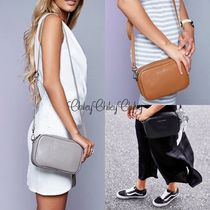 STATUS ANXIETY Plain Leather Elegant Style Crossbody Shoulder Bags