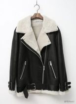Fur Oversized Biker Jackets