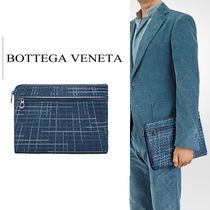 BOTTEGA VENETA Other Check Patterns Lambskin Clutches