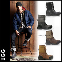 UGG Australia Blended Fabrics Plain Leather Boots