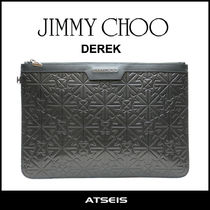 Jimmy Choo Star Unisex A4 Leather Clutches
