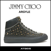 Jimmy Choo Star Street Style Leather Sneakers