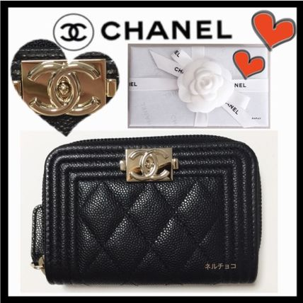 CHANEL BOY CHANEL Coin Cases