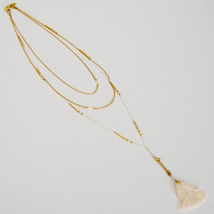 Casual Style Tassel Brass Necklaces & Pendants