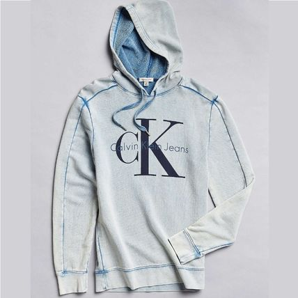 CK logo hoody Acid Wash