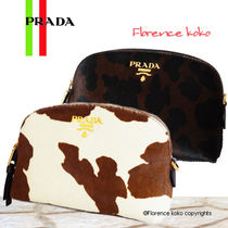 PRADA Spawn Skin Other Animal Patterns Pouches & Cosmetic Bags
