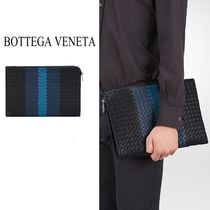BOTTEGA VENETA Stripes Lambskin Clutches