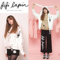 FIFI LAPIN Short Street Style Long Sleeves Plain Cotton Cropped